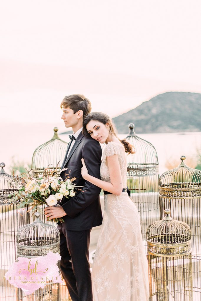 Wedding Inspiration  Garden Roses and Golden Details