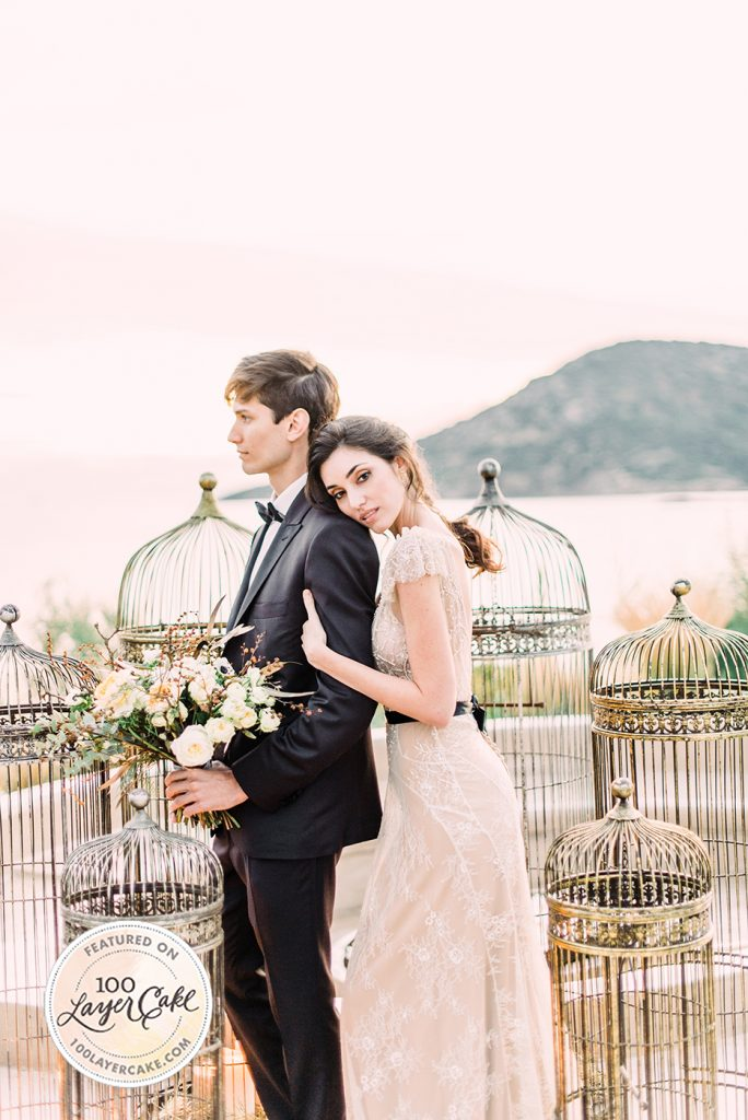 Luxe, romantic wedding inspiration on the Athens Riviera